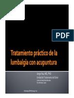 Tratamiento Practico de La Lumbalgia Con Acupuntura