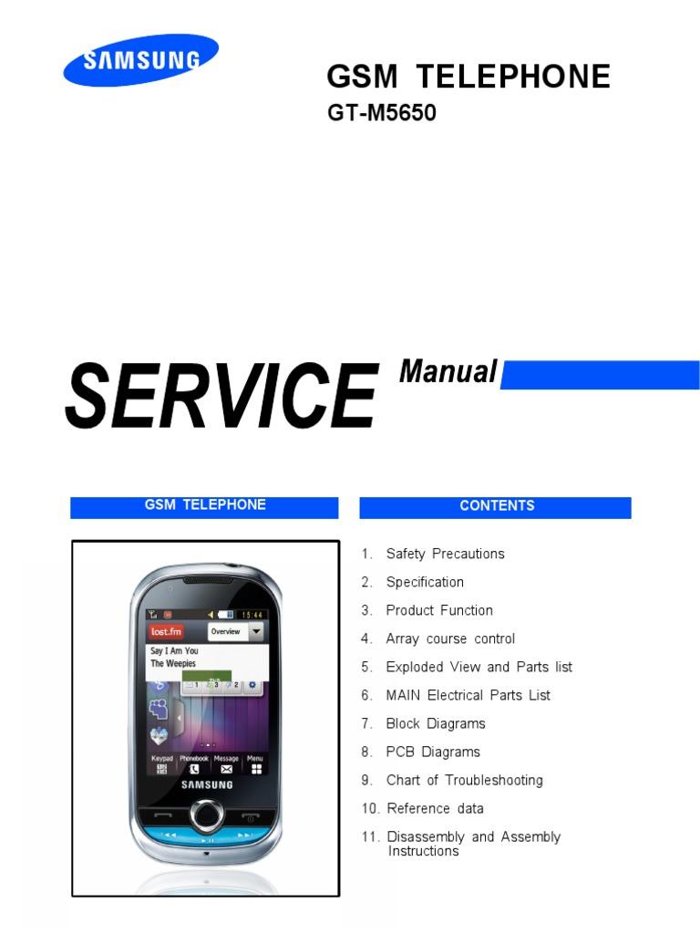 samsung gt m5650 lindy service manual electrostatic discharge rh es scribd com samsung ms6500 manual samsung m550 manual