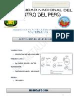 ACTIVACION DE SILFUROS DE ZINC