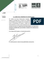 Petición del PSOE de creación de una subcomisión de reforma constitucional en el Congreso (PDF)