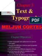 MELJUN CORTES Multimedia Lecture Chapter3 Text & Typography