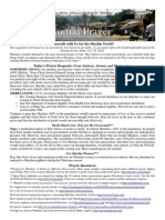 Jumaa Prayer Bulletin 5 December 2014