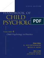 Handbook of Child Psychology Vol 4 Child Psychology in Practice