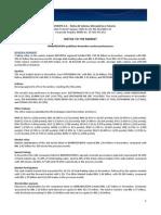 Notice to the Market - Market Performance - November 2014