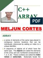 MELJUN CORTES C++ Array