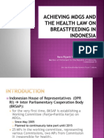 Achieving Mdgs and the Health Law on Breastfeeding