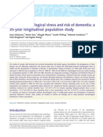 Midlife psychological stress and risk of dementia
