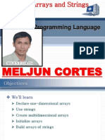 MELJUN CORTES C++ Chap5 Arrays Strings