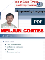 MELJUN CORTES C++ Chap4 Data Types Variables Expressions