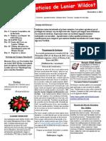 Dec 2014 Newsletter-Spanish