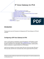 Configuring SIP Voice Gateway for IPv6