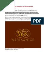 Werte schaffen und sichern ist die Devise der WK Wertkontor GmbH