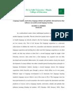 Language Transfer Motivation Language Attitude and Aptitude in Second Language Learning_FERRER (2013)