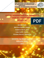 ESTADOS FINANCIEROS SECUFA 2011 -2013