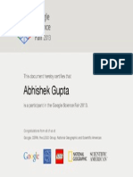 Google Science Fair 2013
