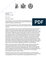 Damrosch Park Letter to the Mayor (May 9, 2014)