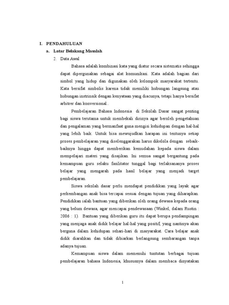 Proposal Ptk Bahasa Indonesia Doc