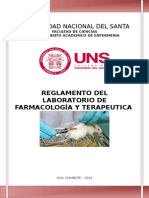 Reglamento de Laboratorio de Farmacologia 2014