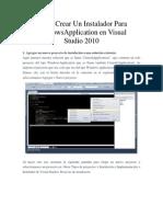 Como Crear Un Instalador Para WindowsApplication en Visual Studio
