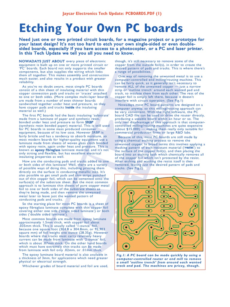 Etching Your Own Pcbs Printed Circuit Board Photocopier How To Etch Boards