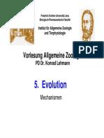 VL Allgemeine Zoologie - Evolution
