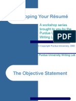 Developing Your Résumé