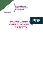 Sefide Prontuario de Operaciones Financieras