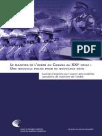 L'avenir des modèles canadiens de maintien de l'ordre