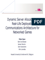quaxCommunications Architecture for Networked Games