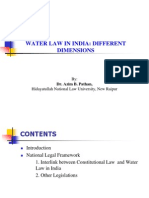 Water Law in India_presentation by Dr. Azim B. Pathan