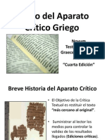 Uso Del Aparato Critico - Jesús Hanco