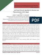 Wavelet Transform Based Neural Network Algorithm