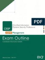Cissp -Issmp Exam Outline