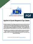 Diabetes Road Map Algorithm