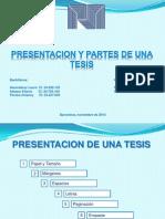 Presentacion de una tesis