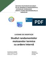 Studiul randamentelor motoarelor termice cu ardere internă