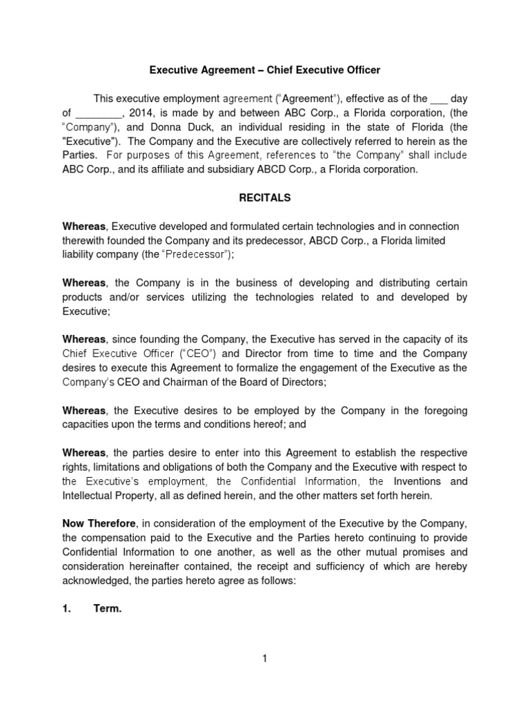 Executive agreement ceo arbitration costs in english law platinumwayz