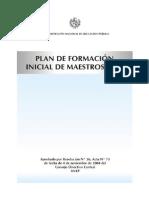 Plan Formacion Inicial Maestros 2005