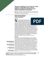 Impactos de medidas de conservação de energia  propostas no PBE Edifica para o nível de  eficiência energética de envoltórias de um  edifício naturalmente condicionado