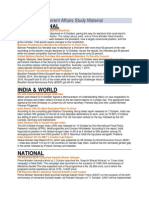 October 2014 Current Affairs Study Material