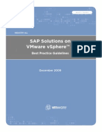 SAP Solutions on VMware vSphere 4 - Best Practice Guidelines