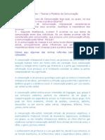 Questões e Reflexões - Teorias e Modelos da Comunicação