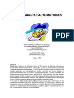COMPUTADORAS AUTOMOTRICES