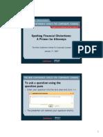 Foley & Lardner Attorneys Guide to Spotting Financial Distortions