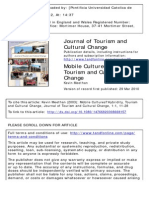 Tourism and Cultural Change