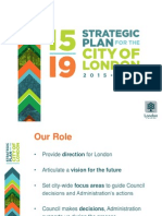 Strategic Plan Powerpoint - City of London 2015-2019