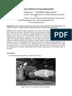 Presenting a Railbound Forging Manipulator