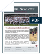 Fall 2014 HISD Newsletter Issue #11 With Regional Champs