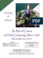 St. Rita Parish Bulletin 11/30/2014