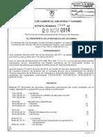 Decreto 2340 Del 20 de Noviembre de 2014